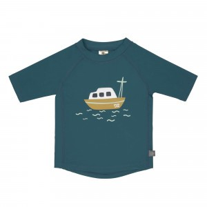 Lässig Splash & Fun UV T-Shirt Korte Mouwen Boat Blue