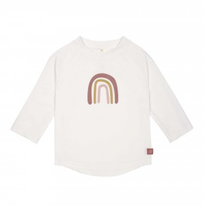 Lässig Splash & Fun UV T-Shirt Lange Mouwen Rainbow White