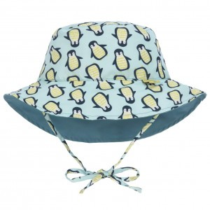 Lässig Splash & Fun Sun Protection Zonnehoedje Pinguin Blauw