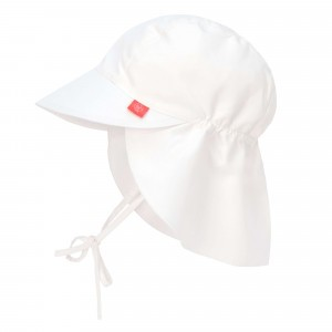 Lässig Splash & Fun Sun Protection Zonnehoedje met flap - White