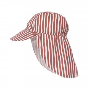 Lässig Splash & Fun Sun Protection Zonnehoedje met flap Stripes Red