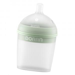 Borrn Silicone Babyfles Groen (150 ml)