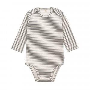 Lässig Body Lange Mouwen Striped Grey Anthracite