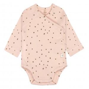 Lässig Overslag Body Lange Mouwen Dots Poeder Roze (0-6 maanden)
