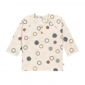 Lässig T-shirt Lange Mouwen Circles Offwhite