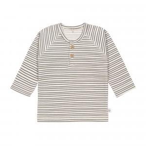 Lässig T-shirt Lange Mouwen Striped Grey Anthracite