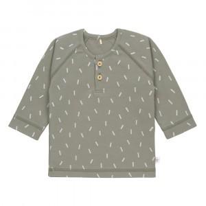 Lässig T-shirt Lange Mouwen Speckles Olive