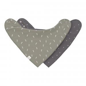 Lässig Bandana Slab Interlock Speckles Olive/Spots Anthracite (2 stuks)