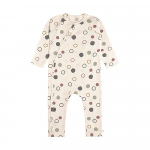 Lässig Pyjama Circles Offwhite