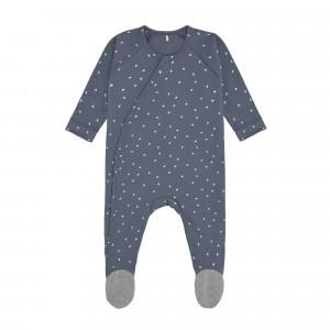 Lässig Pyjama met voetjes Triangle Blue
