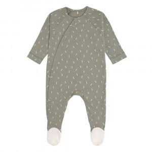Lässig Pyjama met voetjes Speckles Olive