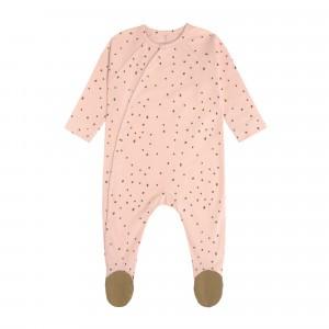 Lässig Pyjama met voetjes Dots Powder Pink