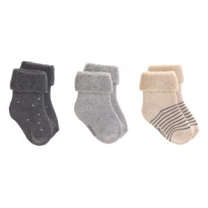 Lässig Newborn Sokjes Assorted Grey (3-pack)