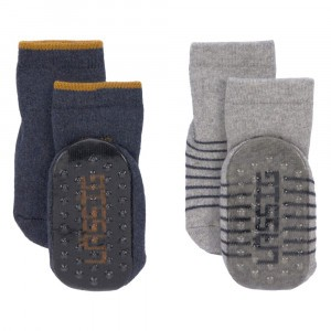 Lässig Antislip Sokjes Assorted Blue/Grey (2-pack)
