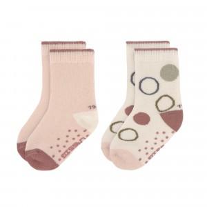 Lässig Antislip Sokken Assorted Offwhite/Powder Pink (2-pack)