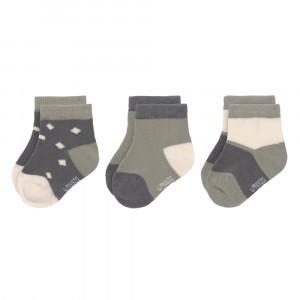 Lässig Sneaker Sokjes (3-pack) Anthracite/Olive