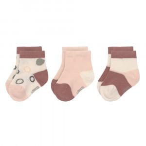 Lässig Sneaker Sokjes (3-pack) Off White/Powder Pink/Rust