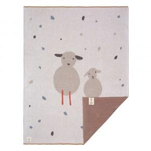 Lassig Gebreide deken Tiny Farmer Sheep (75 x 100 cm)