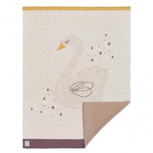 Lassig Gebreide deken Zwaan (75 x 100 cm)
