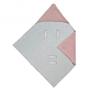 Lässig Gebreide Wikkeldeken voor Autozitje 0+ Dusky Pink