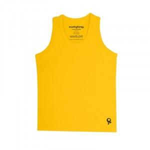 Mambotango T-shirt zonder mouwen Geel