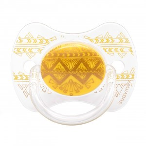 Suavinex Fopspeen HauteCouture Fysiologisch Silicone +18 maanden Yellow