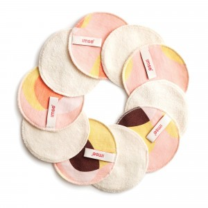 Imse Vimse Wasbare Gezichtsreinigingsdoekjes (10-pack) Pink Hoop