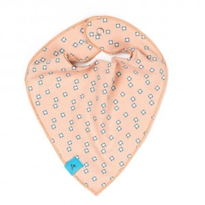 Albababy Bib Dusty Rose Small Flowers