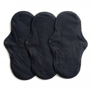 Imse Vimse Wasbaar Maandverband Normaal Active (3-pack) Zwart