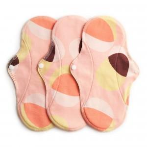 Imse Vimse Wasbaar Maandverband Normaal Active (3-pack) Pink Hoop