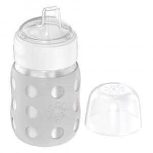 Lifefactory RVS Babyfles Wijde Hals incl. Zachte Tuit (235 ml) Cool Grey