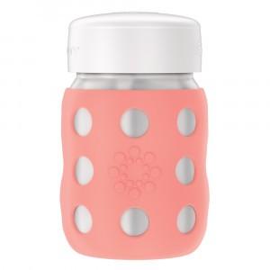 Lifefactory RVS Babyfles Wijde Hals incl. platte dop (235 ml) Cantaloupe