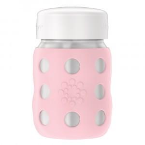 Lifefactory RVS Babyfles Wijde Hals incl. platte dop (235 ml) Desert Rose