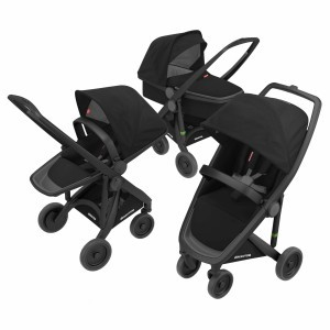 Greentom Kinderwagen 3-in-1 Zwart/Zwart
