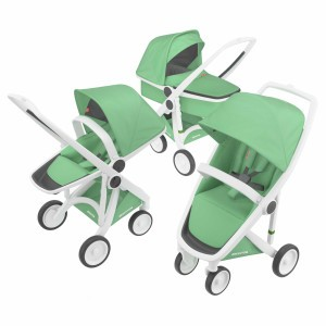 Greentom Kinderwagen 3-in-1 Wit/Mint