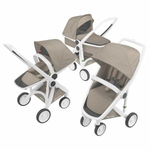 Greentom Kinderwagen 3-in-1 Wit/Beige