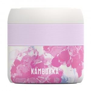 Kambukka Vacuum Insulated Food Jar (400 ml) Pink Blossom