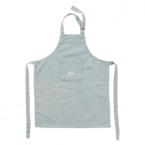 Oyoy Gobi Keukenschort Mini White / Dusty Blue