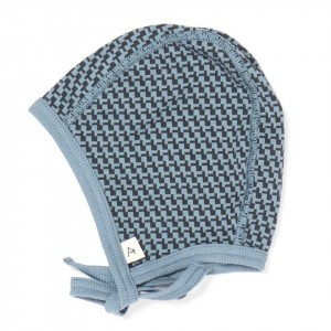 Albababy Heide Baby Hat Blue Mirage Cubes