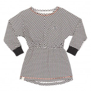 Albababy Tricia Sweat Dress Phantom Zig Zag