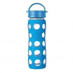 Lifefactory Glazen Drinkfles 475 ml Classic Cap - Ocean blue