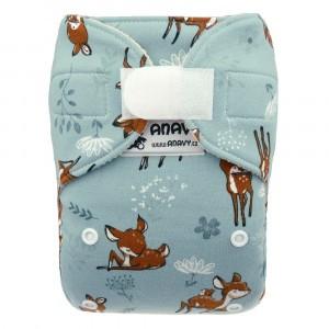 Anavy Wollen Overbroekje One Size met velcro Bambi Blauw (4-15 kg)