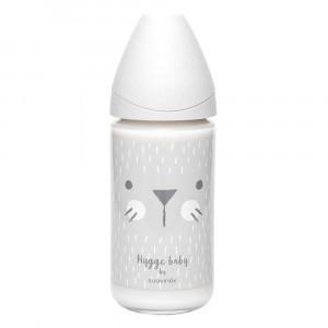 Suavinex Glazen Fles Hygge 3 Positie Silicone 240 ml Gray Whiskers