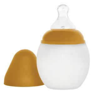 Elhée Silicone Babyfles Mustard (150 ml)