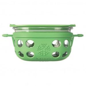 Lifefactory Glazen Bewaardoos 240ml Groen