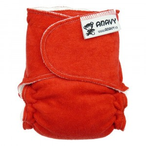 Anavy Velours One Size Luier zonder sluiting Rood (4-15 kg)