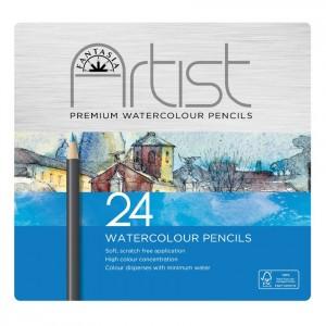 Fantasia Artist Blikken doos met Aquarel-kleurpotloden (24 stuks)