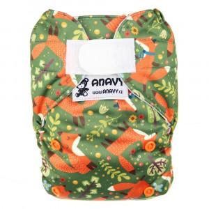 Anavy Snap in One Luier met Velcro Vos Groen