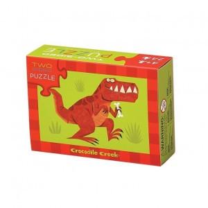 Crocodile Creek tweezijdige puzzel dino (24 stukken)