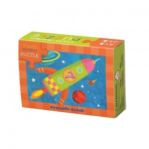 Crocodile Creek tweezijdige puzzel space (24 stukken)
